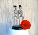 Silver Skeleton Cake Topper