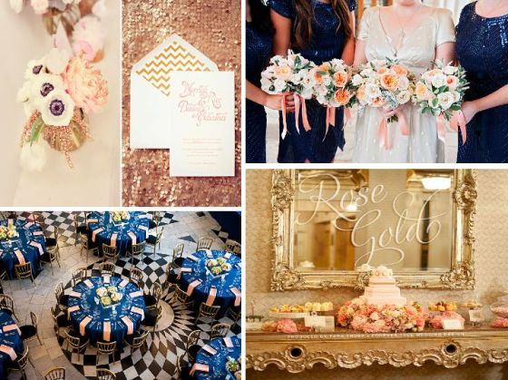 Rose Gold and Navy Wedding Inspiration