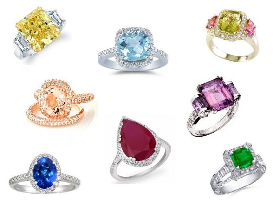 Colored Engagement Rings, Wedding Planning