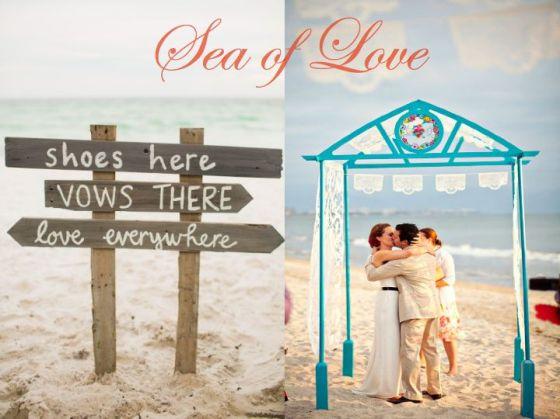 Beach Wedding, Turquoise, Coral, Sea Side, Wedding Planning