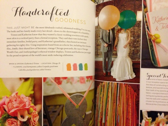 Bright and Colorful with Whimsical touches in the Handcrafted Goodness Real Wedding