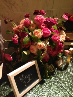 The display at the 100 Layer Cake table