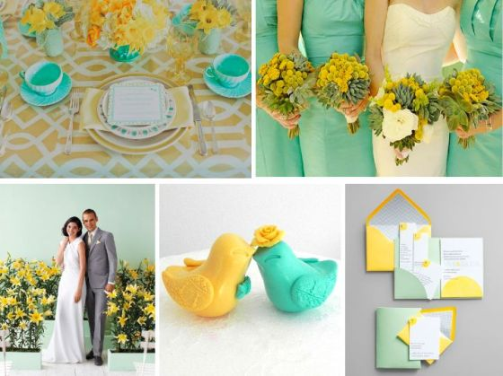 mint, yellow, wedding, inspiration, wedding planner, orange county