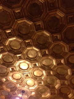 The Gold Metal Ceiling at the Vibiana