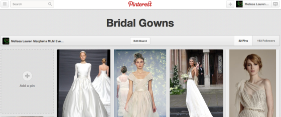 Bridal Gowns, Pinterest