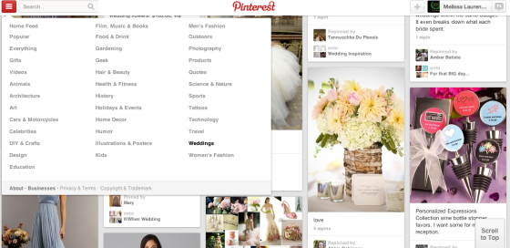 Pinterest, Wedding Planning