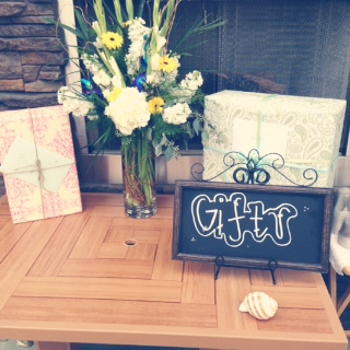 Brooke's Seaside Shower Gifts Table | MLM Event Design