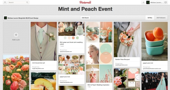 Pinterest Mint and Peach | MLM Event Design
