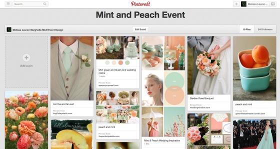 Pinterest Mint and Peach | MLM Event Design