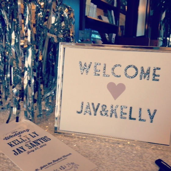 Welcome Table at Jay and Kelly's Wedding | MLM Event Design