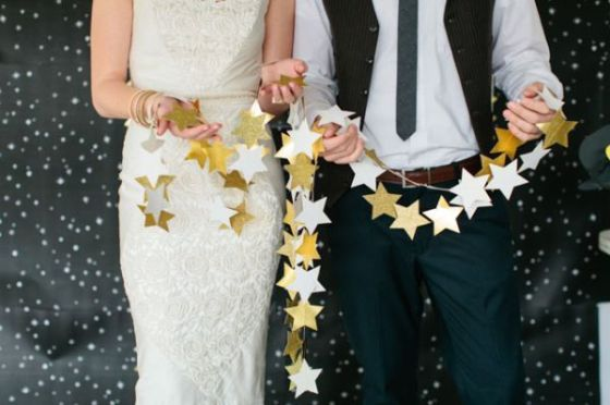 Star Garland | Written in the Stars Wedding Inspiration | MLM Event Design
