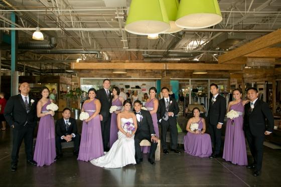 Kelly and Jay bridal party group shot