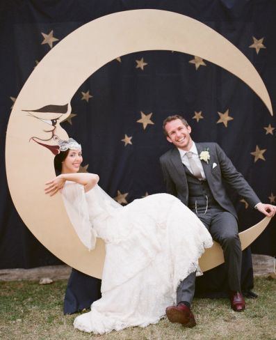 Vintage Inspired Photo Booth courtesy of Style Me Pretty