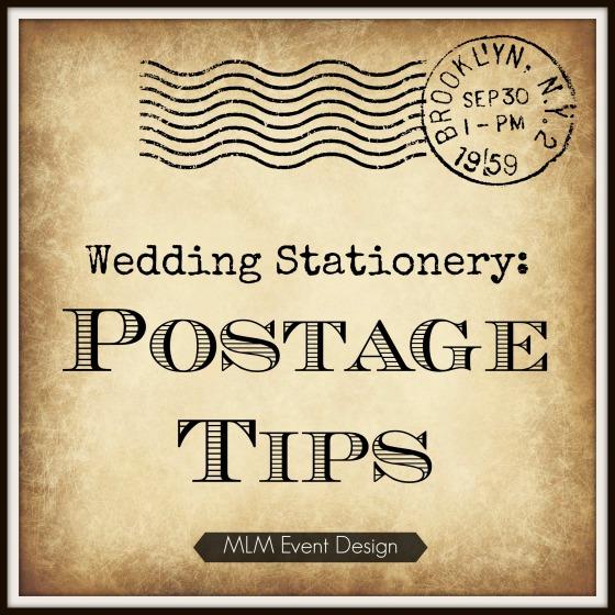 Wedding Stationery: Postage Tips | MLM Event Design