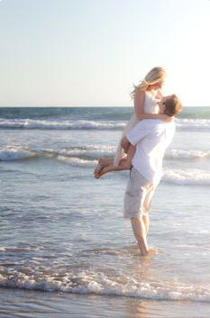 Amber & Ryan Beach Engagement Photos